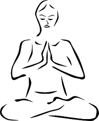 Line Drawing of Person in Lotus Pose